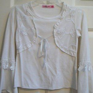 White Embellished Girl Size 8